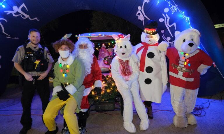 Special Olympics Caravan Brings Holiday Cheer